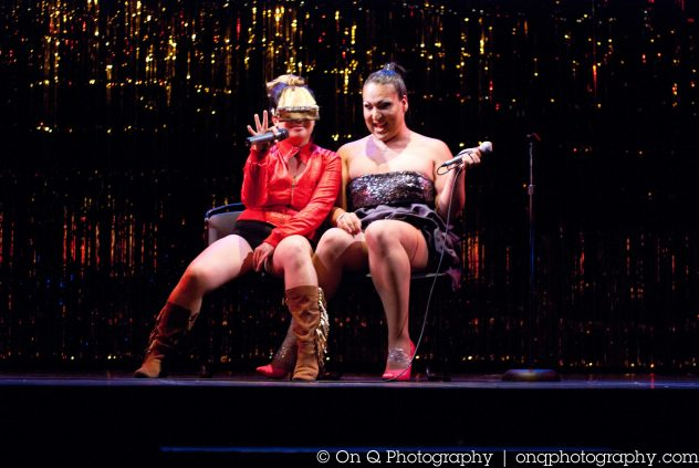 Angelique (left) and Franny (right), Drag Musical Cycle 2: Freaks and Geeks, Buddies in Bad Times Theatre,, 2012. Photo credit: On Q Photography