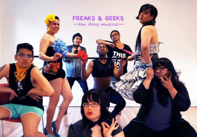 Freaks and Geeks cast photo. Left to right: Sean, Julian, Heidi, Aintony, Patrick, Franny, Aruna, (centre) Angelique Photo credit: Gein Wong