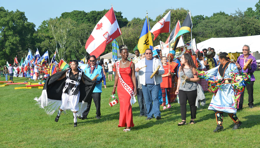 July 9, 2015. Miss Canadiana Camille Turner leads the Cultural Parade as Its Your Festival kicks off at Gage Park. Photo by Kaz Novak, The Hamilton Spectator.